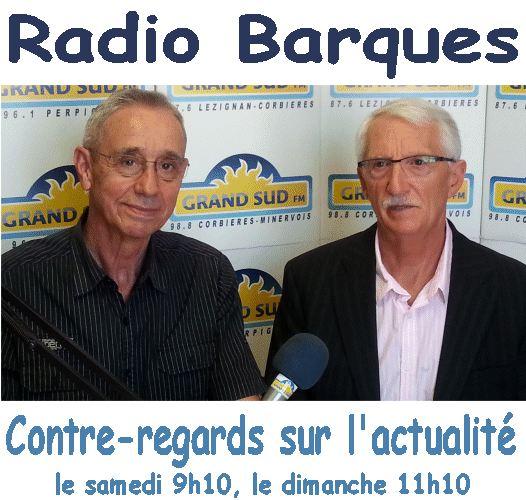 Radio Barques 20 janvier 2018. Contre-regards sur l'actualité. M Santo et JC Julès