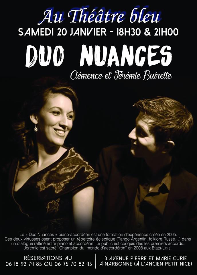 19-01-18 : La musicienne Clémence BUIRETTE au théâtre Bleu de Narbonne