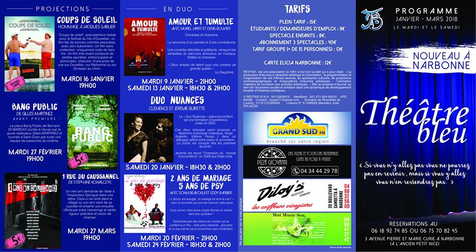 21-02-18 Sophie BARBERO & Jean-Paul JOGUIN du théâtre Bleu à Narbonne