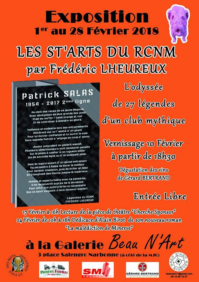24-02-18 Exposition de Frédéric L'HEUREUX à la galerie Beau N'arts à Narbonne