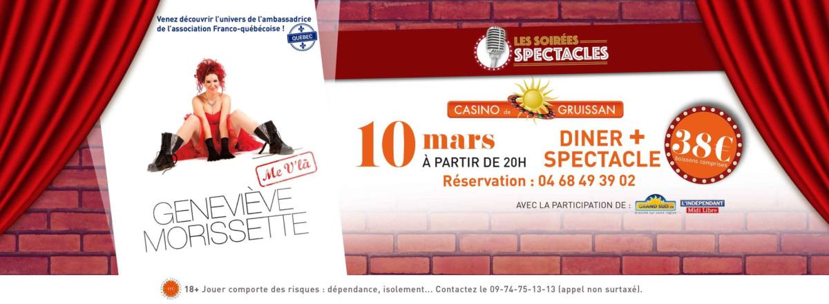 07-03-18 La chanteuse Geneviève MORISSETTE au Casino de Gruissan