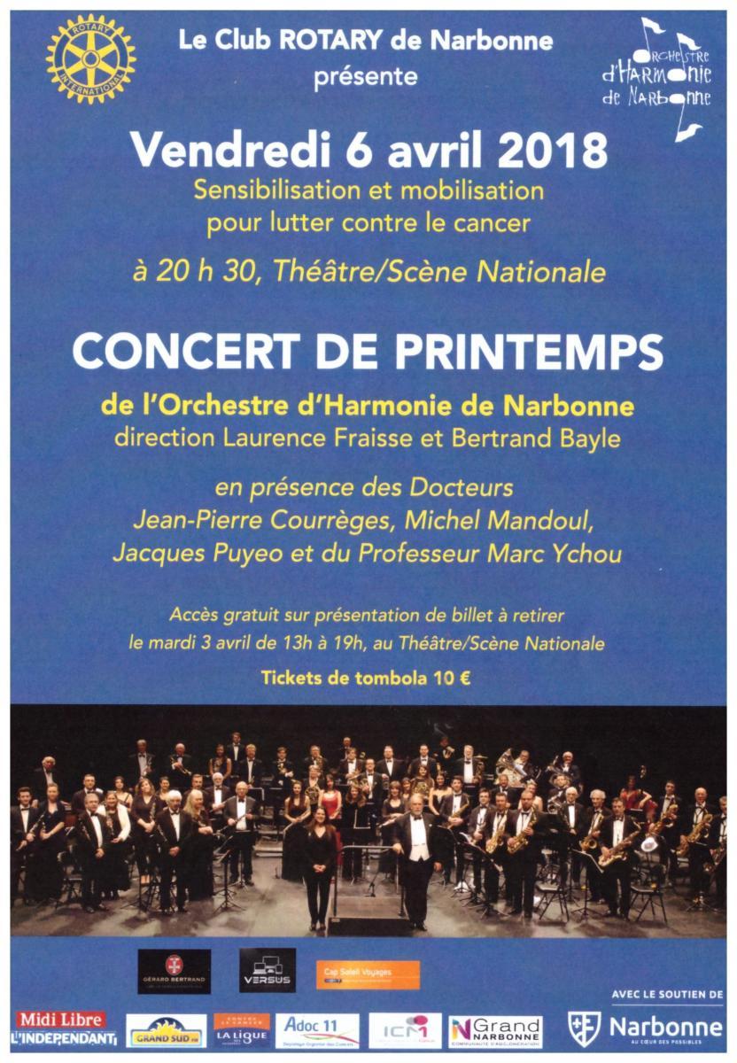 03-04-18 : Concert de Printemps de l'Orchestre d'Harmonie de Narbonne