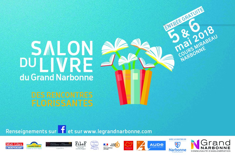 en podcast sur Grand Sud FM, le salon du livre du Grand Narbonne 2018