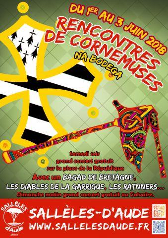 Françoise GOUOT : 3ème rencontre de la cornemuse à Sallèles d'Aude