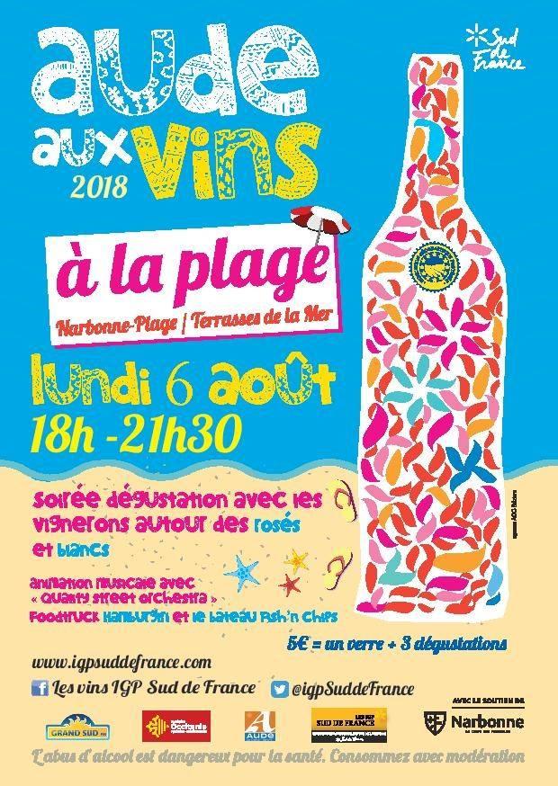 03-08-18 Bernard AUGE & Christophe BARBIER sur l'évènement «Aude aux vins à la plage»