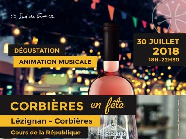 28-07-18  & Daniel SENDROUS, président du Cru Corbières & Bertrand FRITSCH, régisseur de Corbières en Fête