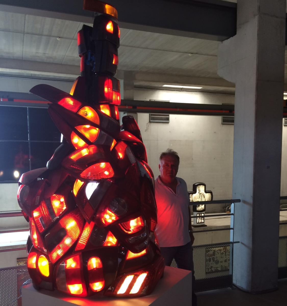 27-07-18 L'artiste Patrick CHAPPERT GAUJAL expose à l'Aspirateur à Narbonne