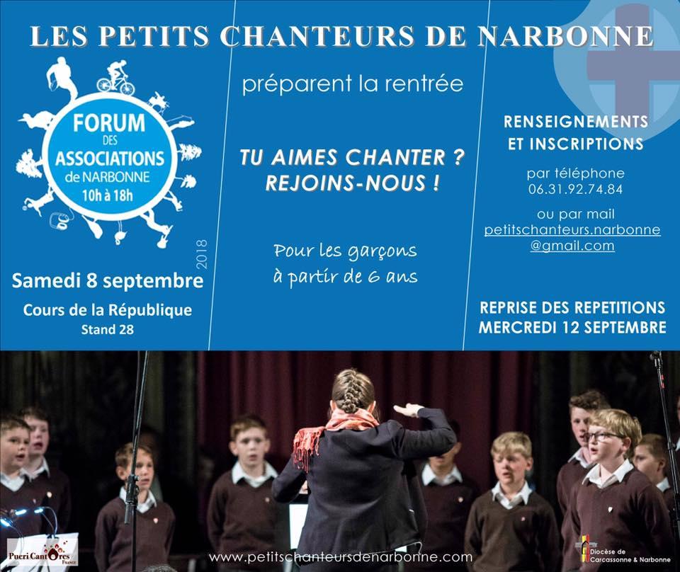 13-09-18 Pauline DE MARMIESSE présidente de l'association les Petits Chanteurs de Narbonne & Cécile CAPOMACCIO, chef de coeur