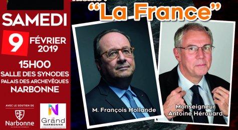 08-02-19 : Olivier LAVIELLE, président de l' association Saint Just Occitanie & Virginie LAVIELLE, trésorière