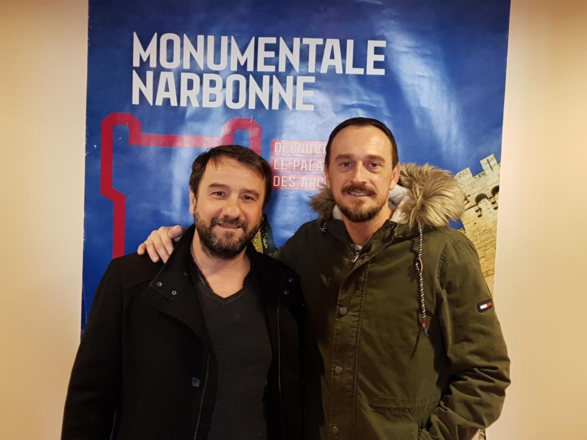 13-02-19 Eric PARRA, adjoint à la mairie de Narbonne en charge du commerce de proximité & Lionel GIRAUD, chef étoilé à la table St Crescent à Narbonne