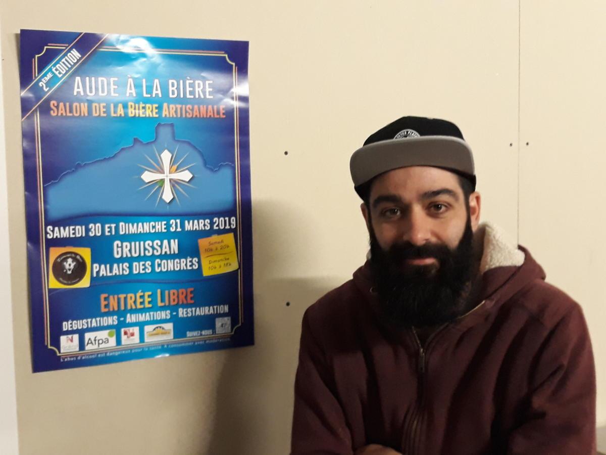 27-03-19 Clément Cabrera, membre de l'association Aude à la Bière