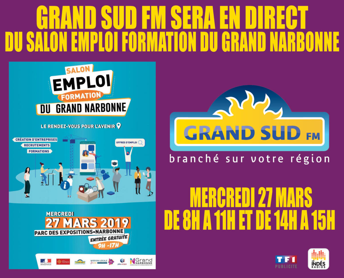 Grand Sud FM en direct du Salon de l'emploi-formation du Grand Narbonne