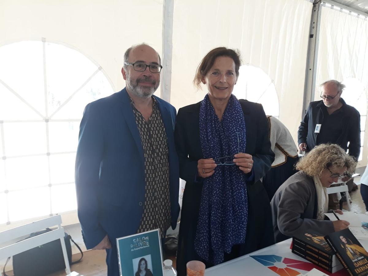 Salon du livre Grand Narbonne 2019, Marie NIMIER & Philippe BERTIN