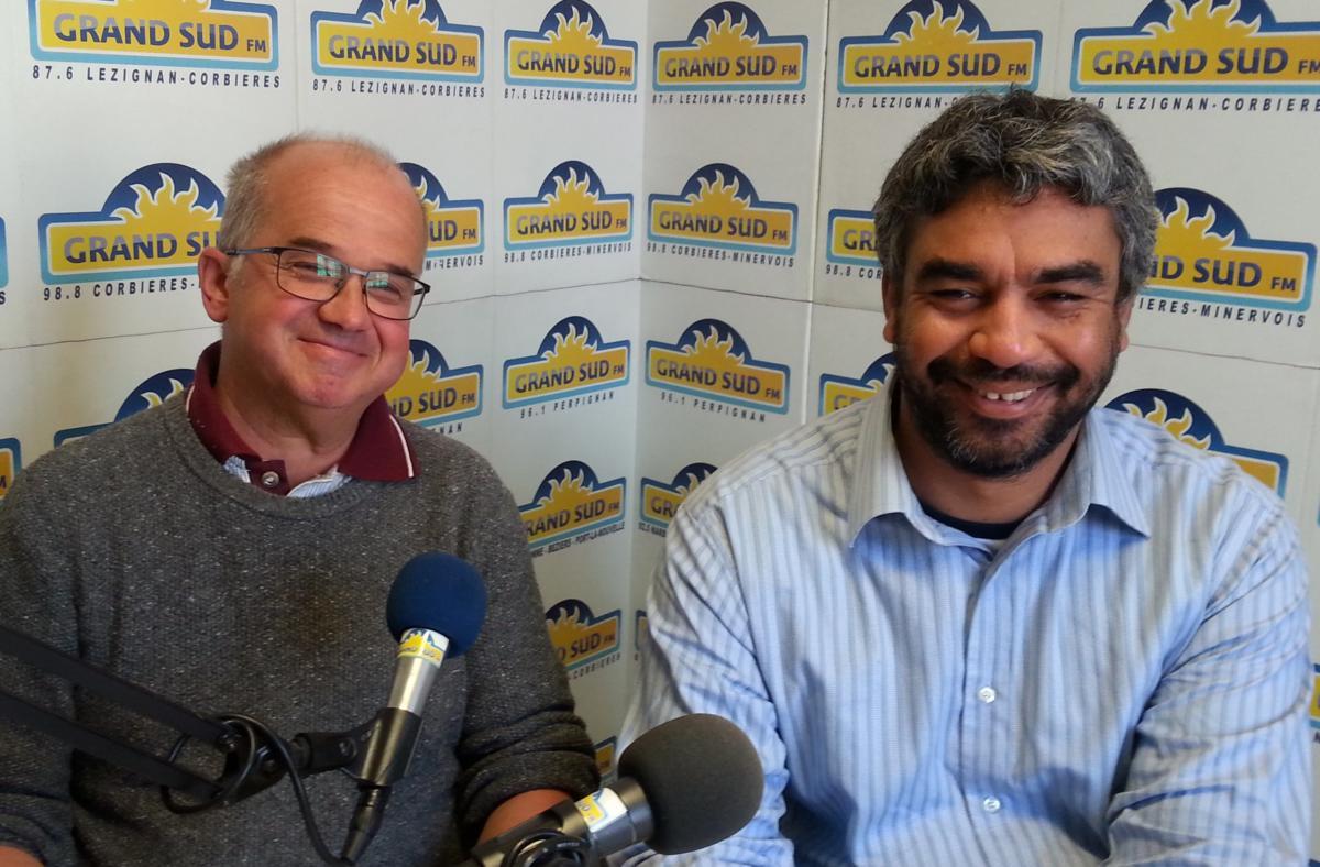 30-05-19 Didier Pontiac, gérant des magasins Biocoop  à Narbonne et Bruno Du Boisguéheneuc, le directeur