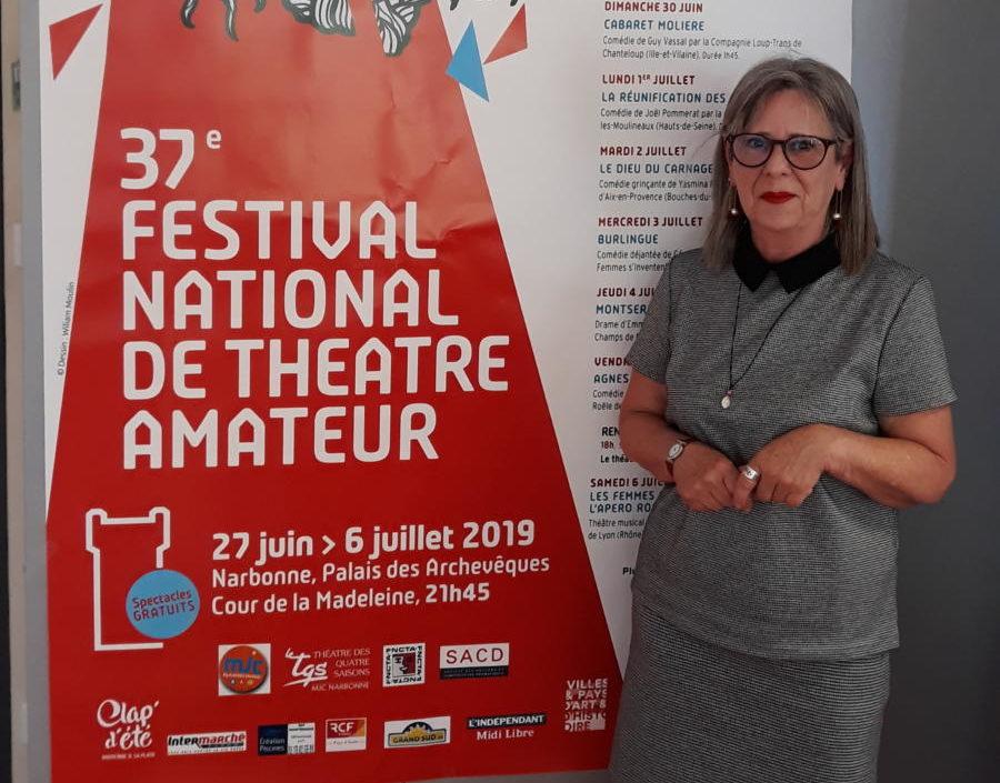 20-06-19 : Annick CAMBLOR : Présidente du Festival National de Théâtre Amateur de Narbonne