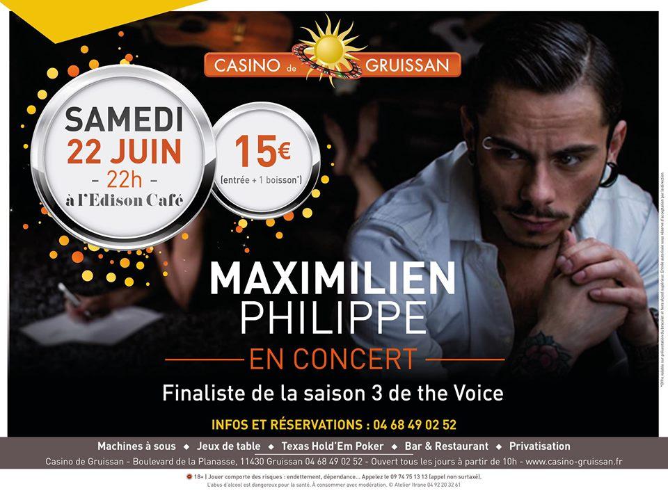 22-06-2019 Le chanteur Maximilien Philippe au Casino de Gruissan