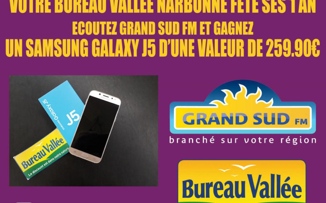 JEU GRAND SUD FM AVEC BUREAU VALLEE du 3 au 7 juin.