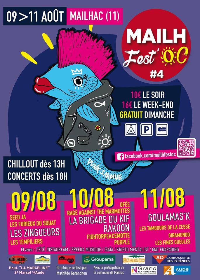 12-07-19 Sandrine et Clément, organisateurs du Mailh Fest'OC à Mailhac