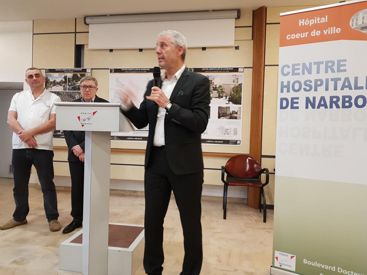 27-01-2020 Richard BARTHES, directeur de l'hôpital de Narbonne.
