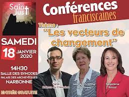 16-01-2020 Olivier LAVIELLE présente la conférence Franciscaine avec Ségolène Royal