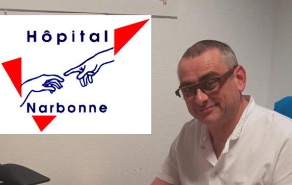 20-03-21: Le Docteur Alain PERET, chef des urgences du Centre Hospitalier de Narbonne