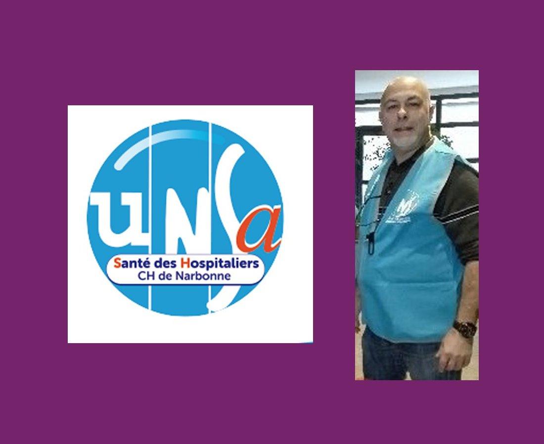 Thierry SERRES : Secrétaire du syndicat UNSA Santé des Hospitaliers du Centre Hospitalier de Narbonne