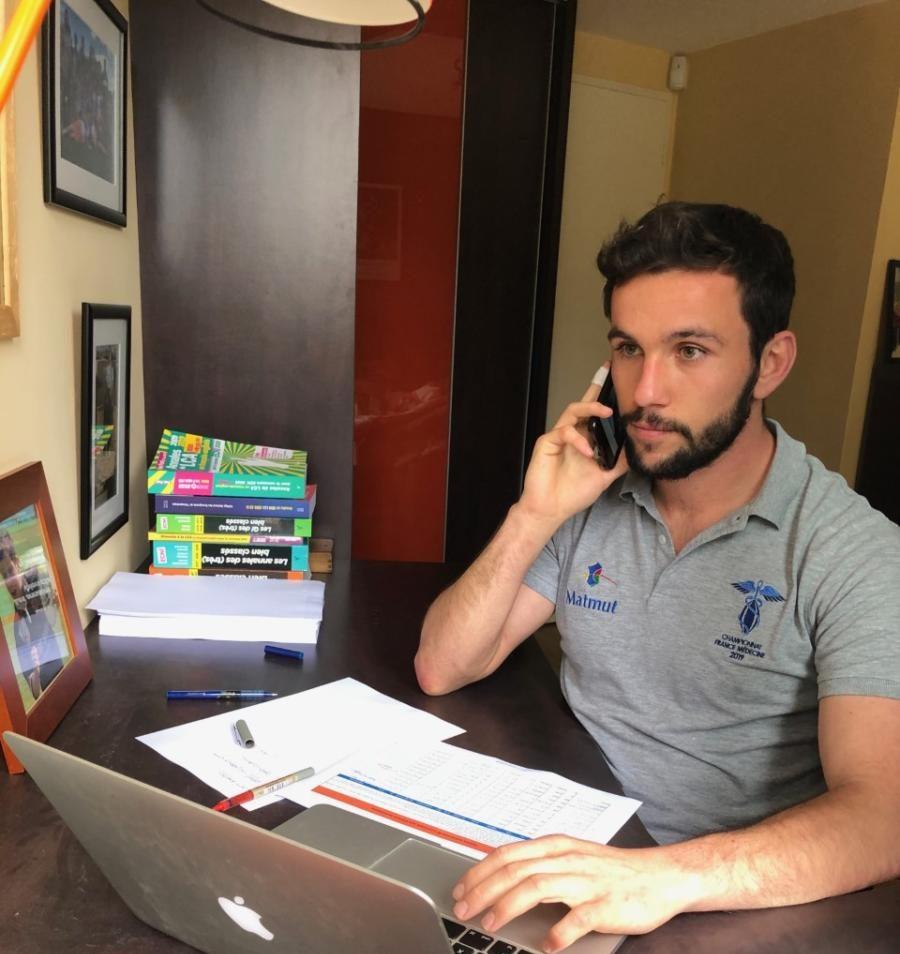 07-05-20 : Quentin ESTRADE, membre de l'association des Carabins Toulousains pour le Rugby