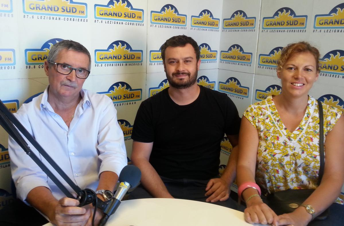06-08-20 Adrien LAFFON, maître-fauconnier & Claire DEPUILLE, responsable du service hygiène à la mairie de Narbonne