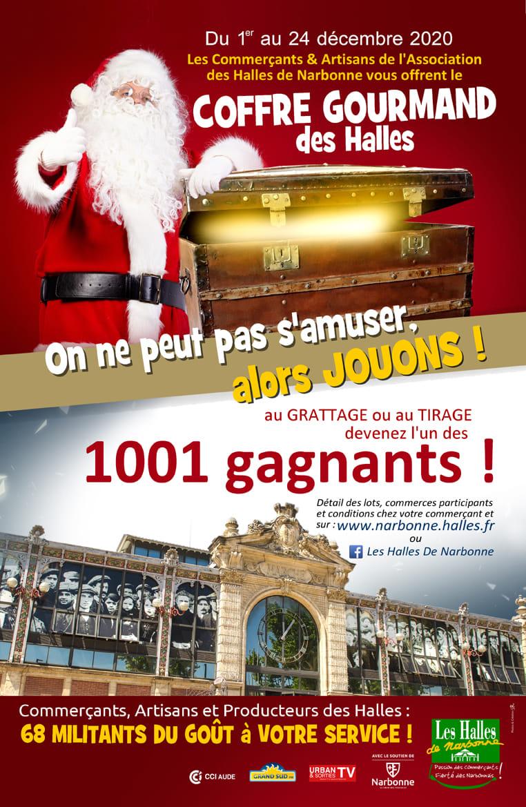 22-12-20 : Julien JEAN, co-président de l'association des commerçants & Stéphane ROMAIN chargé de la communication aux Halles de Narbonne