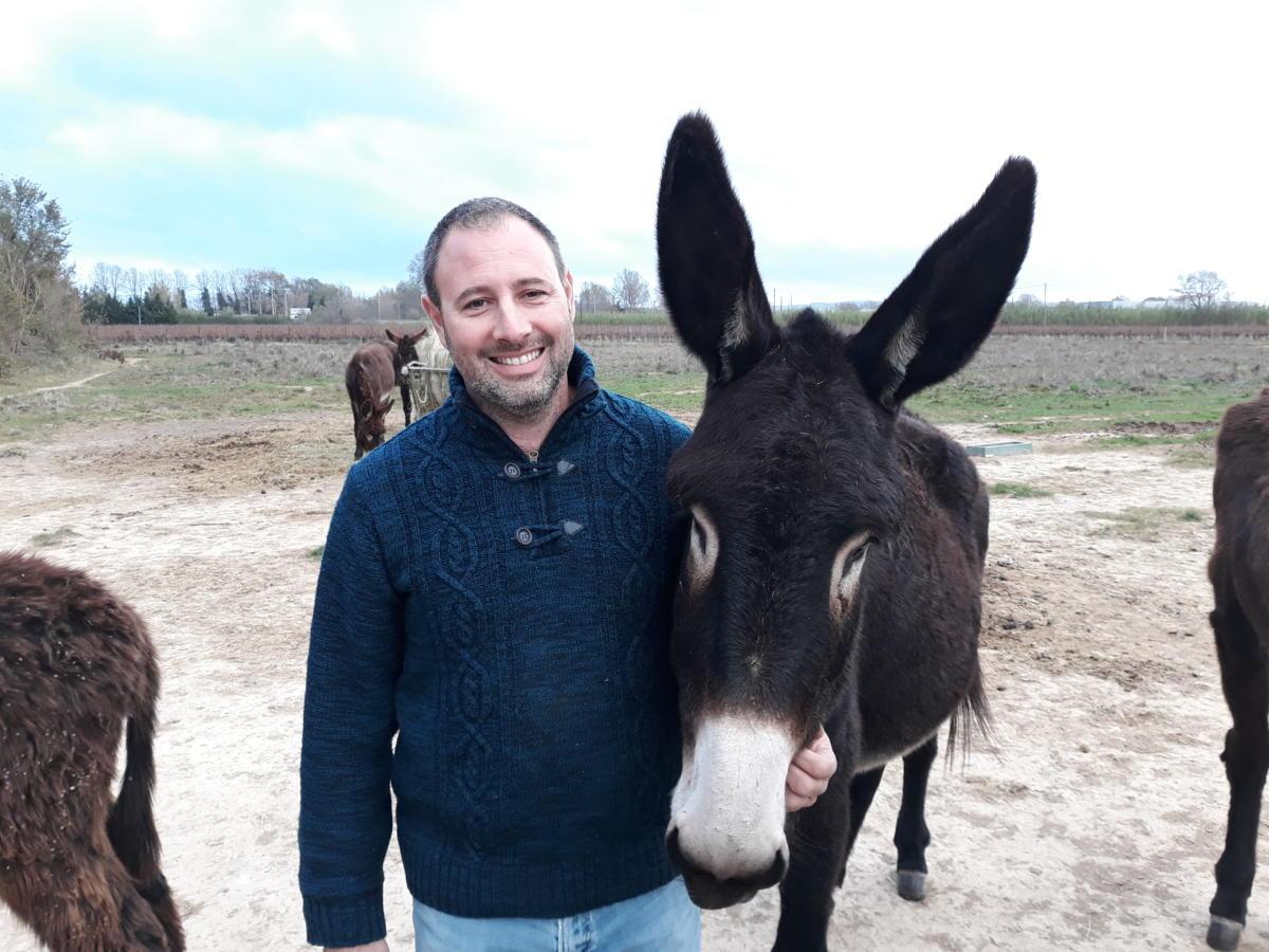 03-12-20 Sébastien Solé, éleveur et responsable de l'Asinerie du Rivage à Coursan