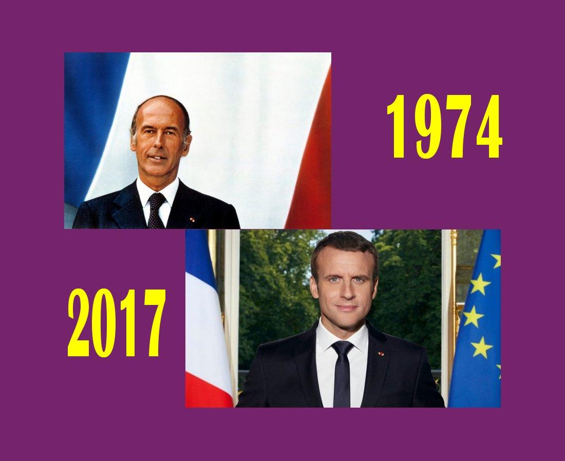slider Giscard Macron