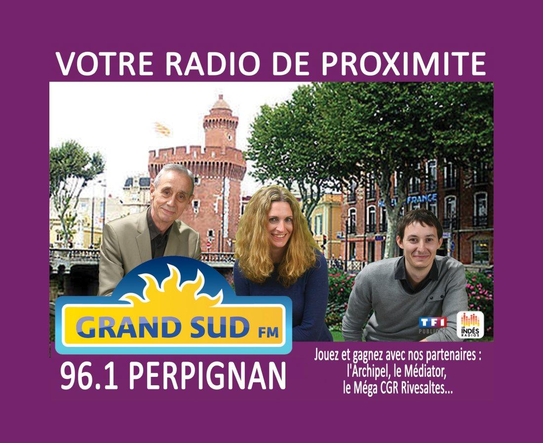GRAND SUD FM S'ECOUTE AUSSI EN ROUSSILLON, SUR 96.1
