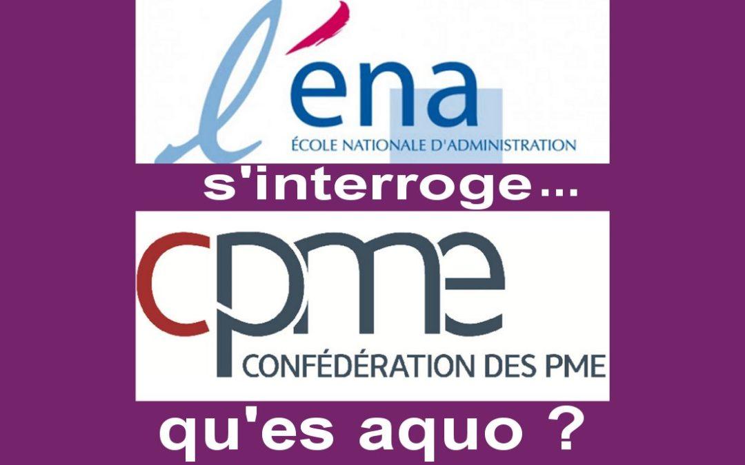 LA CHRONIQUE DE JEAN-CLAUDE JULÈS, 25 jan 21. L'ENA s'interroge: les PME, qu'es aquo? LE TEXTE.
