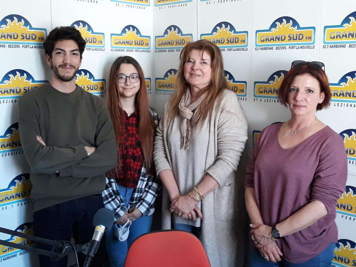 26-03-21 : Fabiola VERDEGAY, directrice de l'E2C Narbonne, Julie THIBAUDIN, formatrice, Jean-Pierre SACQUEPEE & Hermeline JOLY