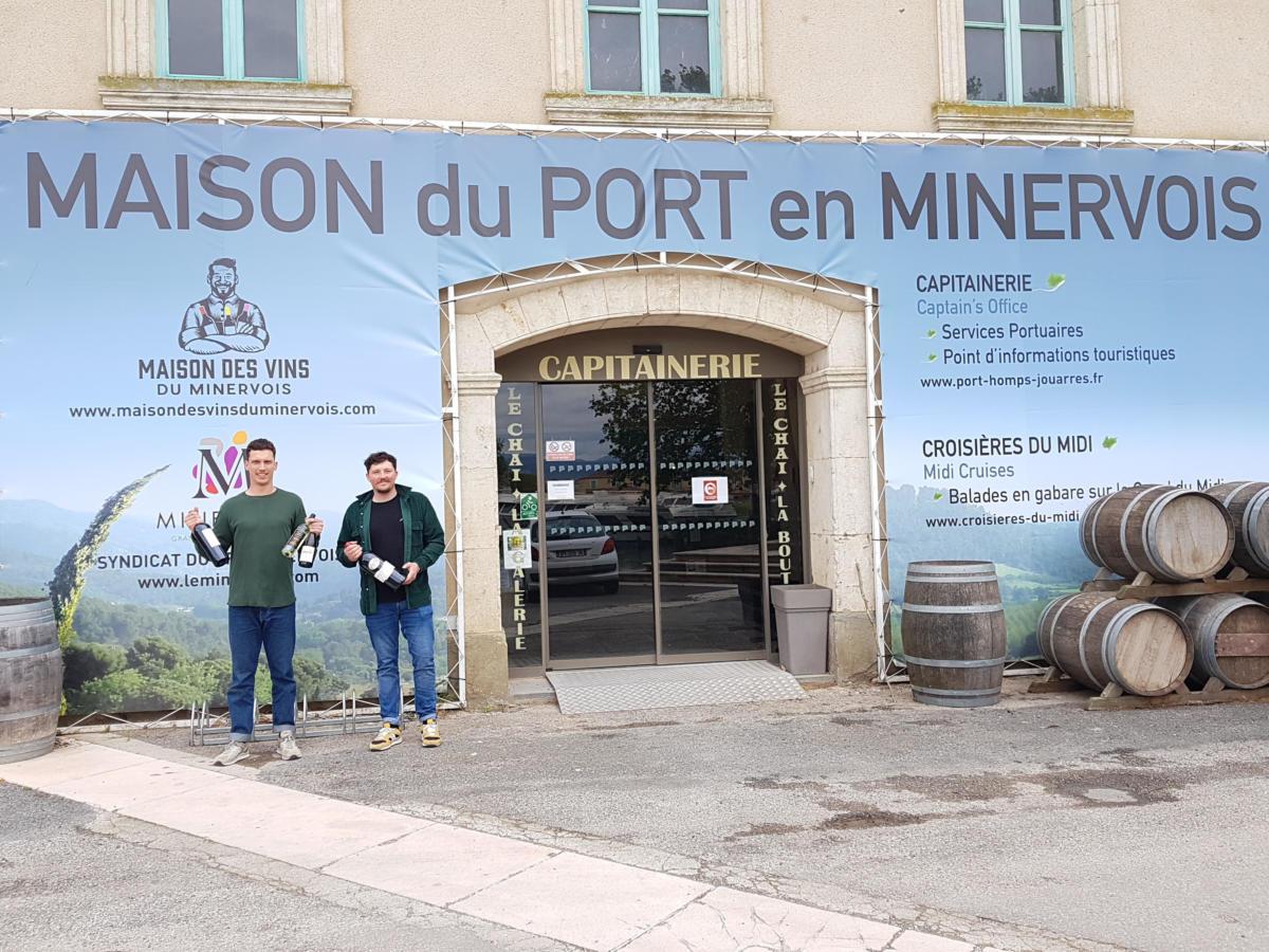 29-04-21 : Jules et Franck, ambassadeurs des vins du Minervois à la Maison des vins à Homps