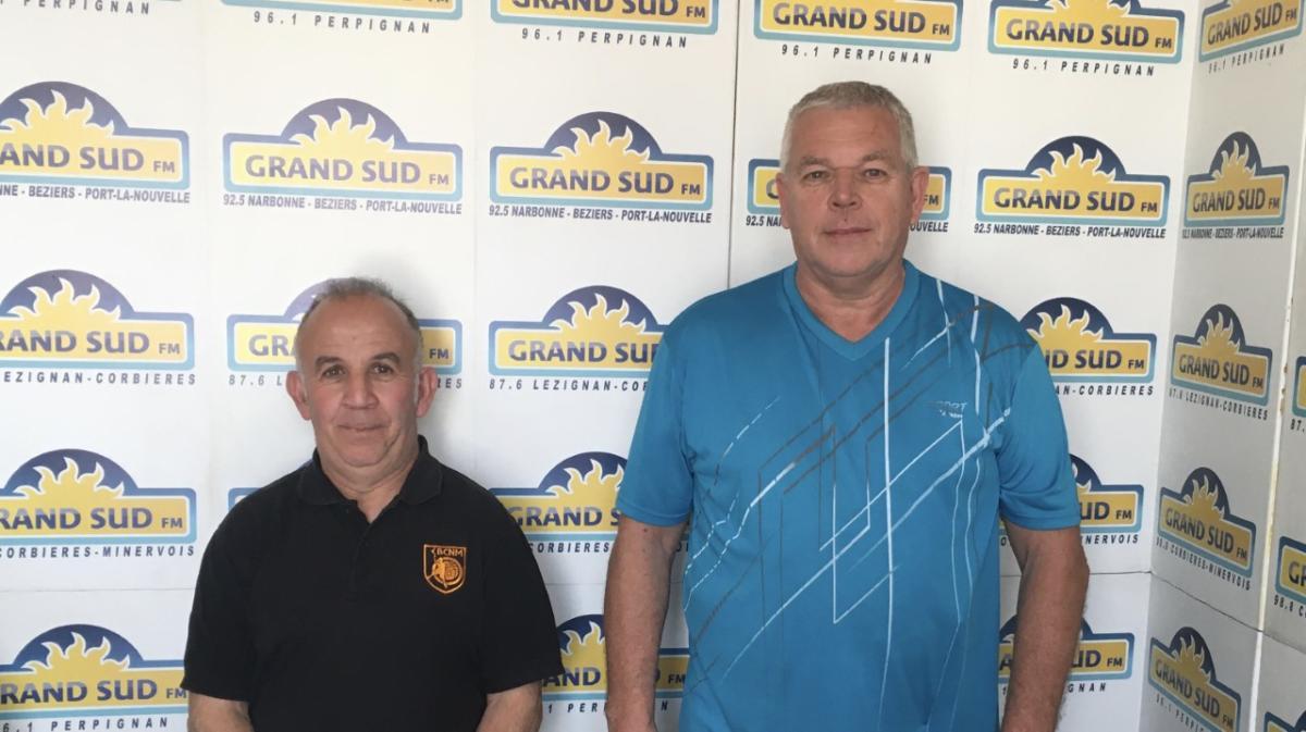 09-04-21 : Hassein DJAOUTI, président du Basket Club Narbonne Méditerranée & Pascal DELALIAUX, responsable technique des entraineurs