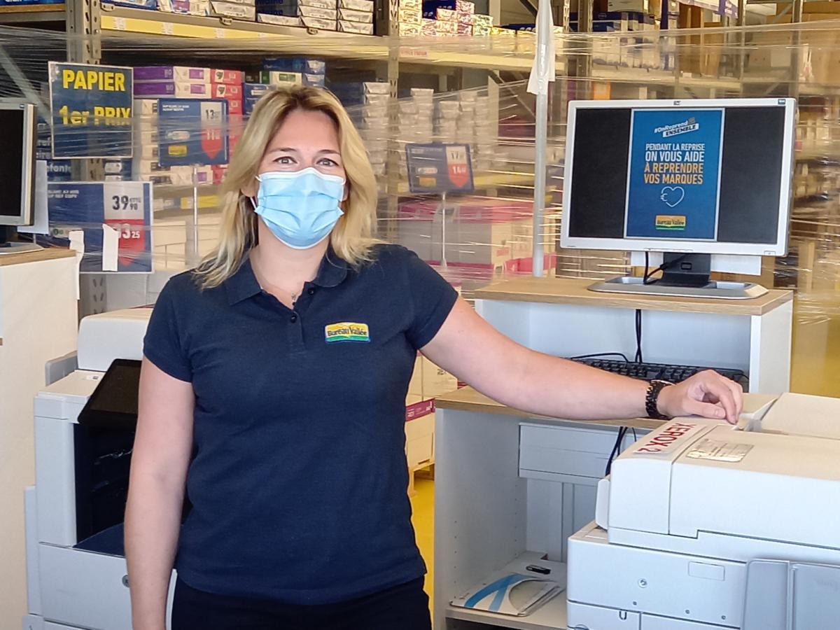 19-05-21 : Séverine BOUSQUET, à la tête du magasin Bureau Vallée à Narbonne