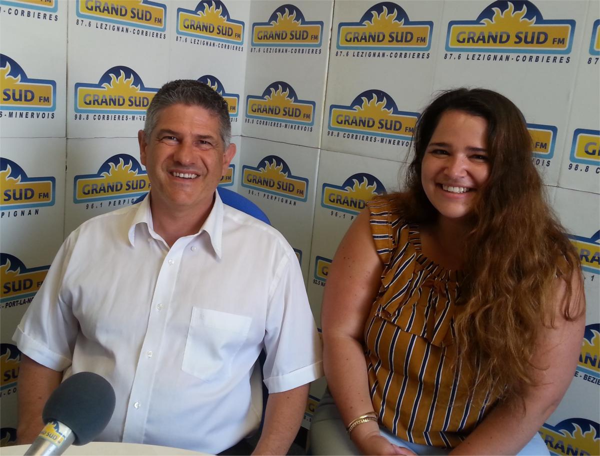 02-07-21 : Jean-Noël VEDERE, directeur & Charmaine SANCHEZ-ALDEBERT, responsable de formation à l'école Sup de Tourisme de Narbonne