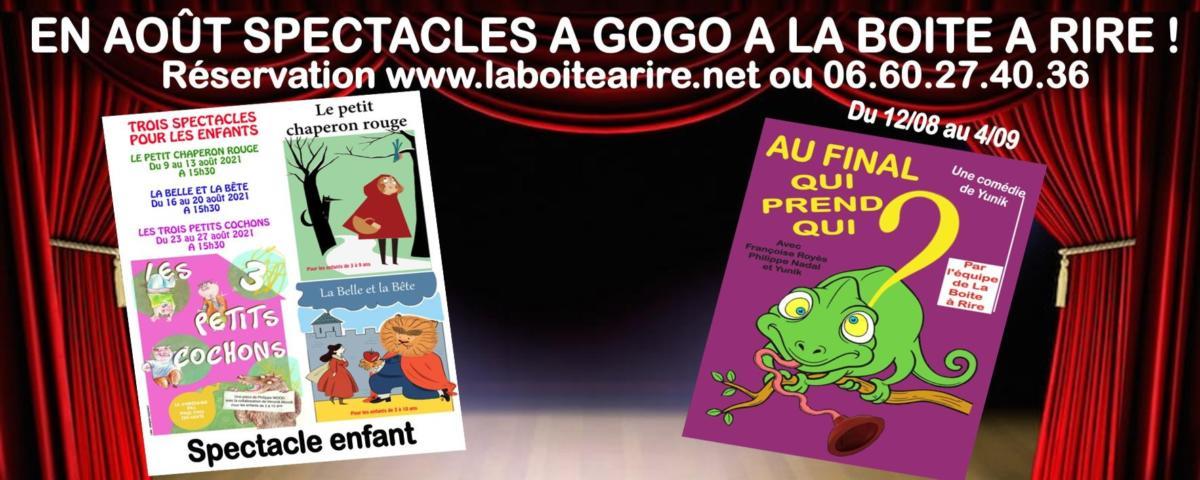 11-08-21 : Françoise ROYES, l'une des comédiennes de la boite à rire à Perpignan