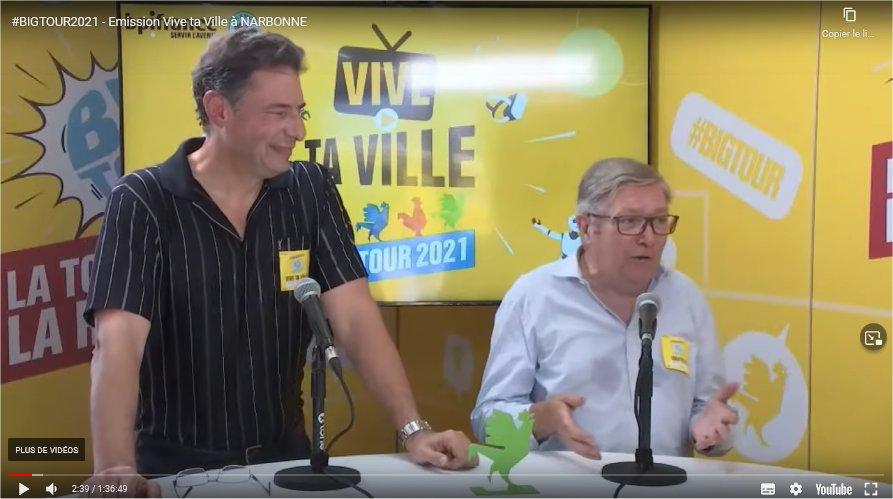 Emission Vivre ta ville à Narbonne Plage le vendredi 13 août 2021