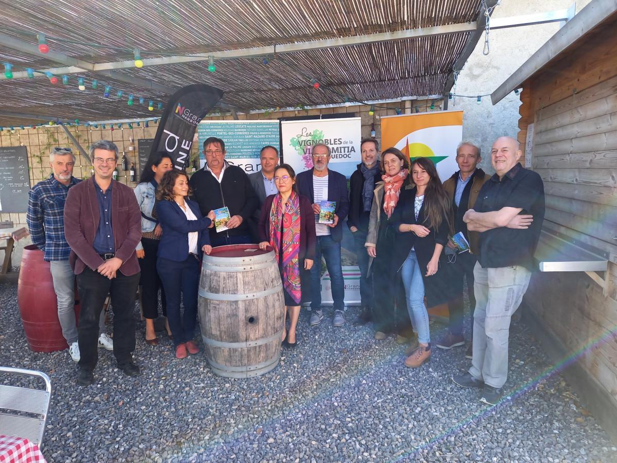 14-10-21 : Xavier BELLARD vice président élu à l'agriculture & l'oenotourisme au Grand Narbonne & Delphine FERRARI, animatrice du label Vignoble et découverte